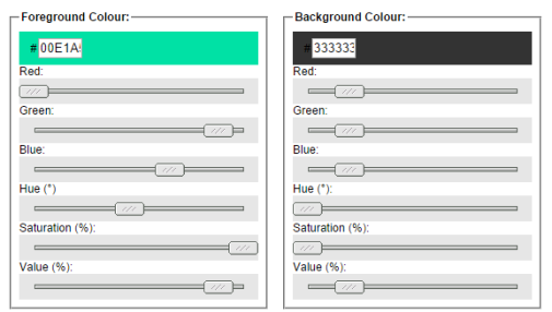 Color Contrast Font Tool