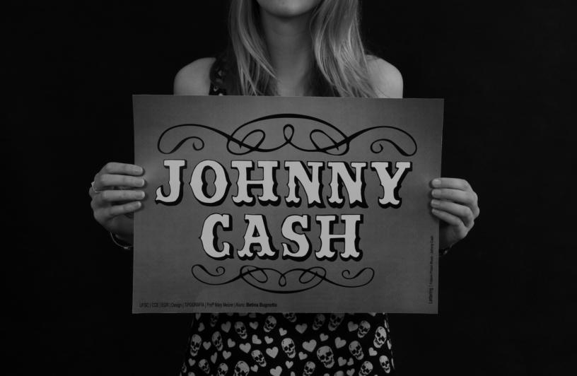 Lettering Johnny Cash